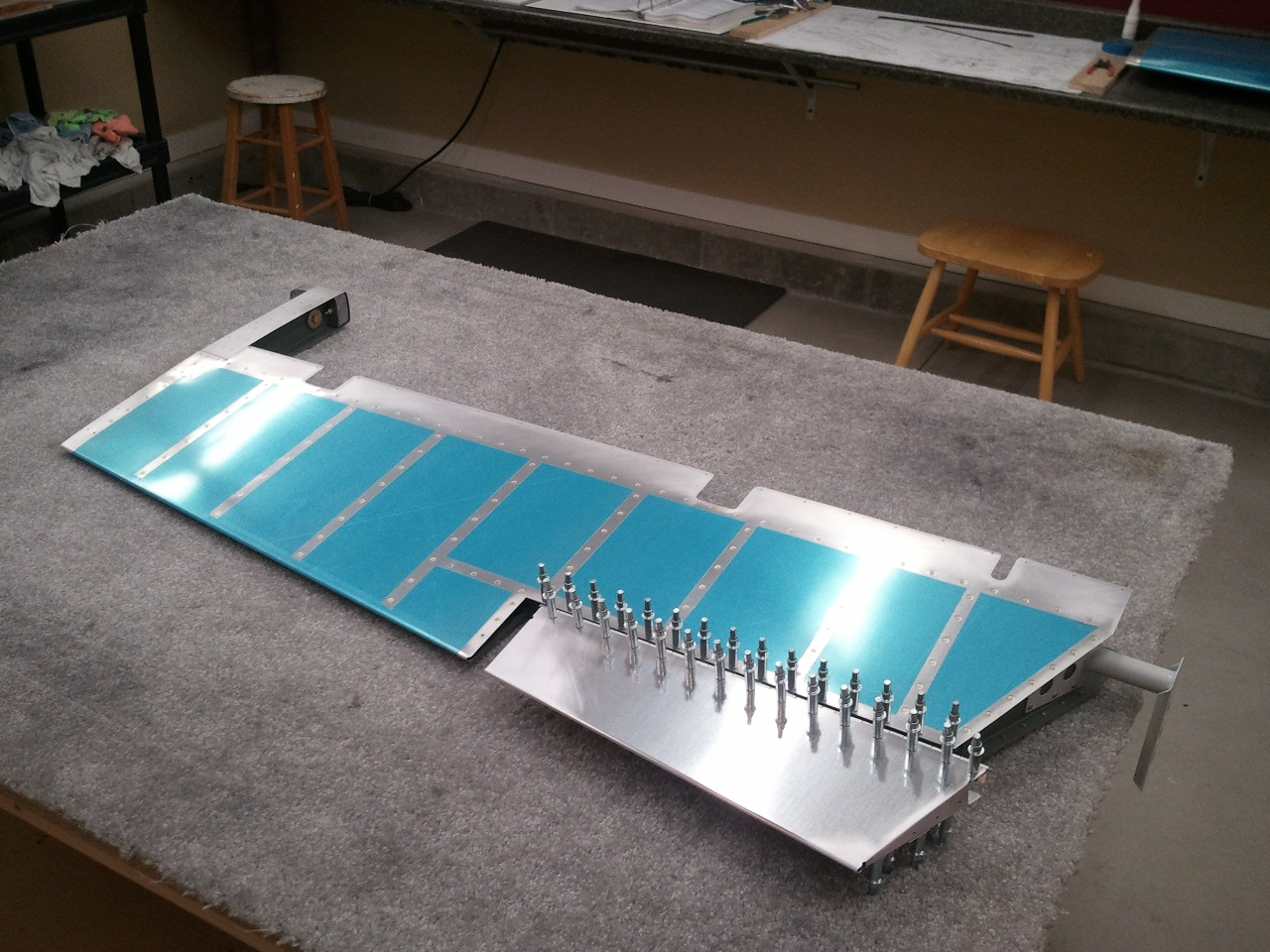 Rv7 Factory Left Elevator Riveted Trim Tab Completed